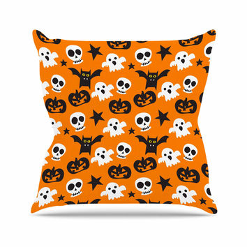 "KESS Original ""Spooktacular"" Halloween Pattern Outdoor Throw Pillow"