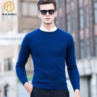 MACROSEA High Quality 96.3% Cashmere Men's Smart Casual Sweaters O-Neck Knitwear Cashmere Pullovers Men's Cashmere Wool Pullover