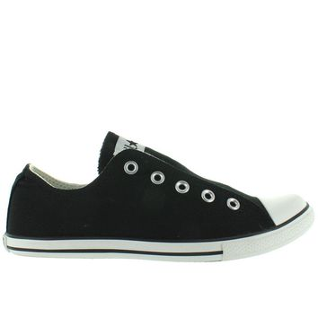 Converse All-Star Chuck Taylor Slim Slip - Black Canvas Slip-On Laceless Sneaker