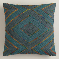 Blue Diamond Throw Pillow