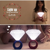 Romantic Diamond Ring Shaped LED USB Table Lamp Home Decoration Lover Valentines Day Gift