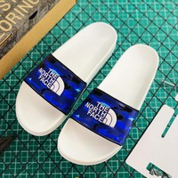 Atmos x The North Face TNF Base Camp Slide II Camo Blue - Best Online Sale