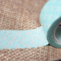 Washi Tape - Pale Blue Motif 2 ROLLS WT664