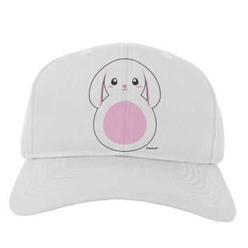 Cute Bunny with Floppy Ears - Pink Adult Baseball Cap Hat by TooLoud