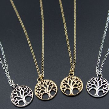 Retro Life Tree Pendant Necklace, Women's Pleasure Tree Necklace
