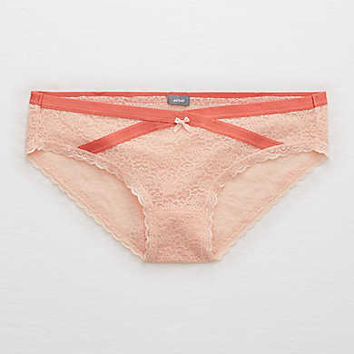 Aerie Everyday Loves Lace Bikini , Tangerine Crush
