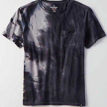 AEO Flex Dyed Crew T-Shirt, Gray