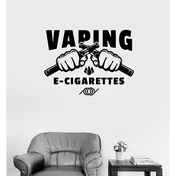 Wall Decal Vaping Electronic Cigarettes Hookah Fists Vinyl Sticker (ed1442)