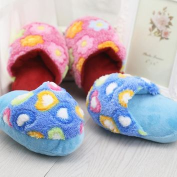 1 Pc Cute Dog Toys Sound Plush Slippers Pet Puppy Chew Squeaker Squeak Plush Sound Toy