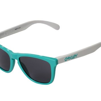 NEW Oakley Sunglasses 24-417 Heritage Frogskins Seafoam Frame Gray Lens