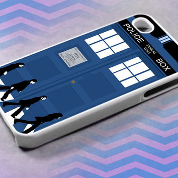Beatles walk at police box 2, For iPhone 4/4s/5/5c/5s,iPod 4/5,Samsung S2/S3/S4/S3,S4 Mini,Htc One/X Case Rubber/Plastic