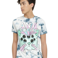 Teen Hearts Anti-Social Tie Dye T-Shirt