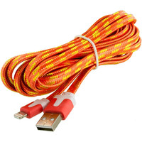 Orange Rope Braided Heavy Duty Lightning Data Sync Cable Charger (10FT) for Apple iPhone 6 Plus / 6S Plus (5.5)