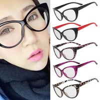 Hot Fashion Retro Sexy Women Eyeglasses Frame Cat style Clear Lens lady Eye Glasses Drop Shipping leapord eyewear