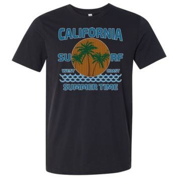 California Summer Time Knit Style Asst Colors Mens Lightweight Fitted T-Shirt/tee