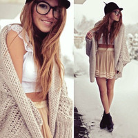 batwing knitted long cardigan sweater oversize knitwear