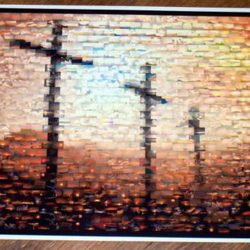 Amazing Christian 3 Crosses Holy Cross on Hill Montage