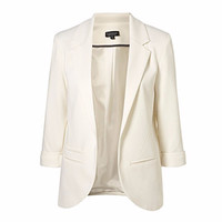 Fetoo Women's Jacket Slim Thin Cardigan Blaser Feminino Work Suit Chic Blazer Solid Color Female Women Basic Coats Outwear S-XXL