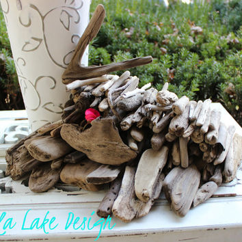 Rustic Driftwood Pieces to Scatter on Tables for Beach Wedding Decoration , Keeping it Coastal Shore Decor WR100
