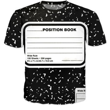 Blank-position Book T-shirt