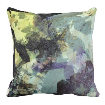 Ink collage throw pillow