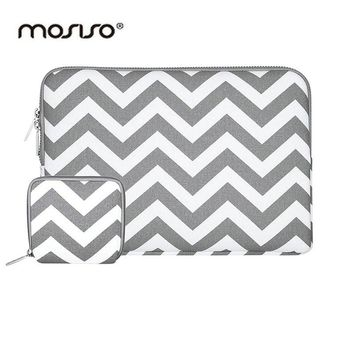 MOSISO Canvas 11 13 14 15 inch Portable Zipper Soft Sleeve Laptop Pouch Bag Notebook Computer Case for Macbook Air Pro Retina
