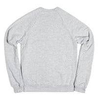 Oversized Daisy Chain Cross-Unisex Heather Grey Sweatshirt
