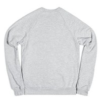 god first sweat shirt-Unisex Heather Grey Sweatshirt