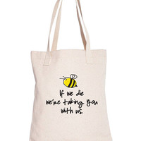 Save the Bees Tote bag / echo canvas tote