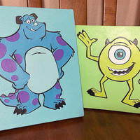 Monsters Inc. Canvas Art - Set of 2