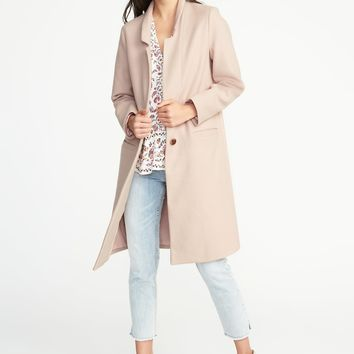 Long Soft-Brushed Coat for Women | Old Navy