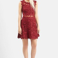 Women's Topshop Scallop Lace Dress