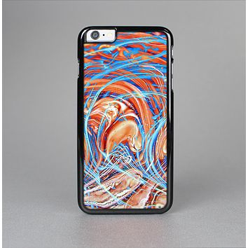 The Vibrant Color Oil Swirls Skin-Sert Case for the Apple iPhone 6