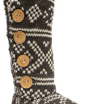 Muk Luks Malena Crotchet Women's Knit Sweater Boot