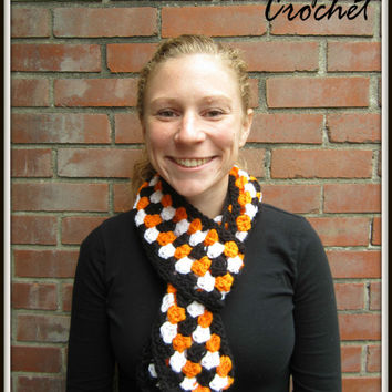 Multicolor Scarf Warm Accessory for Fall Winter Chunky Orange Black White Christmas Gift Cincinnati Bengals Tigers OSU Beavers