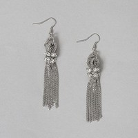 Women's Multi Chain Earring in Silver by Daytrip.