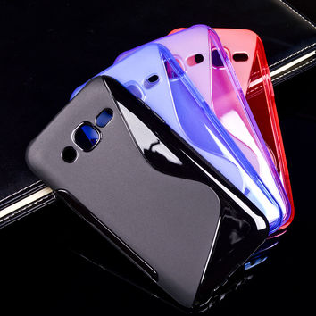 Soft S Line TPU Mobile Phone Cases For Samsung Galaxy J5 2015 SM-J500F YC955 5.0 inch j500 J500H J500F J5008 Ultra Thin Silicon