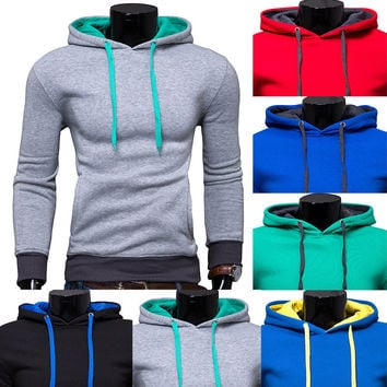 Men Casual Hoodies Stylish Hats Pullover Jacket [6528648643]