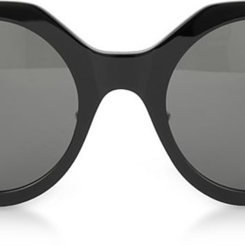 Saint Laurent SL 185 Slim Shiny Black Acetate Women's Sunglasses