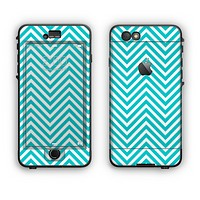 The Trendy Blue & White Sharp Chevron Pattern Apple iPhone 6 Plus LifeProof Nuud Case Skin Set