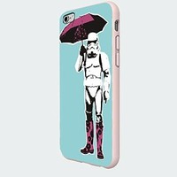 Star Wars Stormtrooper with Umbrella Custom Case for Iphone 6 Plus White