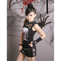 Aliexpress.com : Buy Punk Rock Black Gothic Shirt Cosplay Sleeveless womens Casual TOP fashion 2015 from Reliable gothic shirt suppliers on Punk Rave Store
