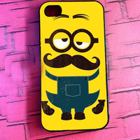 "GuriguriNyoi ""Despicable Me Minion Yellow Mustache"" for iPhone, Samsung Galaxy and iPod cases"