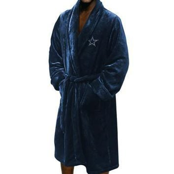 "Dallas Cowboys NFL 26""x 47"" Large/Extra Large Silk Touch Men's Bath Robe"