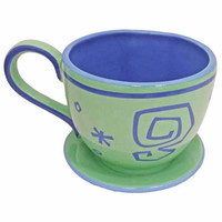 disney parks alice in wonderland mad tea party green tea cup saucer mug new