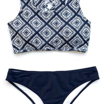 Cupshe Ancient Story Tank Bikini Set