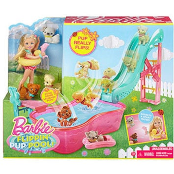 Walmart: Barbie Flippin' Pup Pool! Play Set