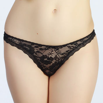 Lace G Strings Thongs Sexy Panties Women Transparent Seamless JARFF
