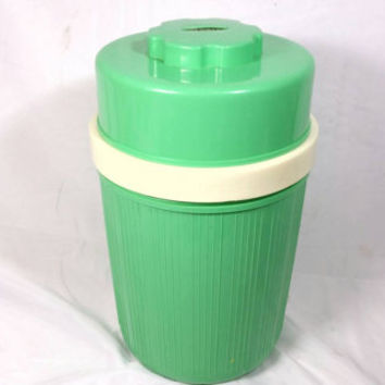 Vintage Gloria Lime Green Food Thermos/Camping Storage/Lunch Dinner Breakfast Food Thermos/Plastic Glass Vintage Food Thermos