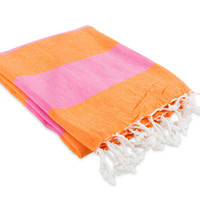 Hamptons Fouta Towel - Magenta/Orange
